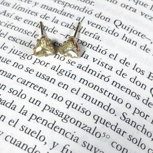 JEWELD YELLOW DIAMOND DAINTY STUD EARRINGS
